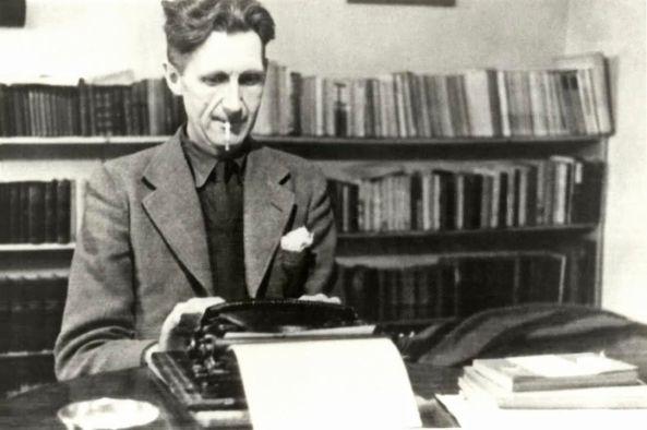 Orwell escribint